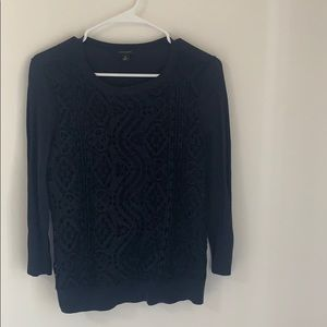 Ann Taylor Crochet Sweater